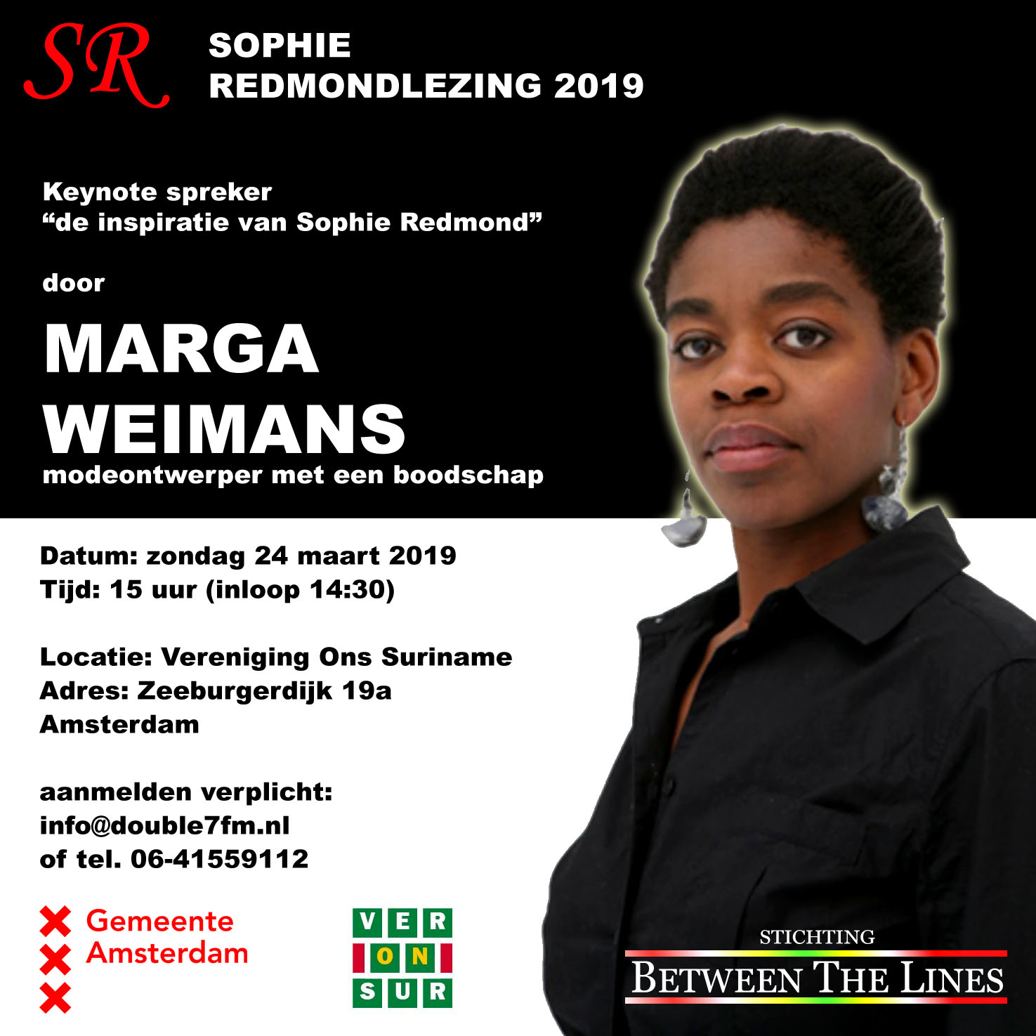 Flyer Marga Weimans Sophie Redmondlezing 2019